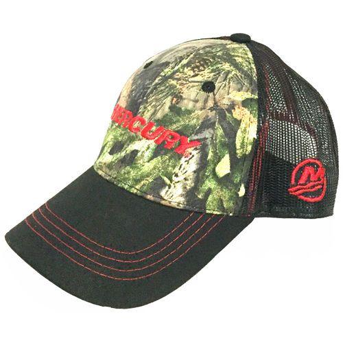 New Mercury Marine Mossy Oak Camo Mesh Trucker Hat