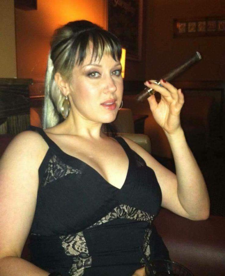 Læder Sexy Rygning lange negle Sexy ryge en cigar-4297