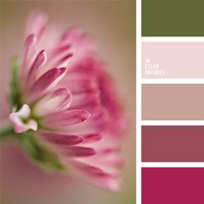 castaña, color lila, color marrón rosáceo, color púrpura, color rosa polvoriento, de color púrpura, lila sonrosado, rojo aberenjenado, rojo indio, selección de colores para un dormitorio, tonos pastel oscuros, verde oliva oscuro, verde pantano.