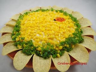 """Sunflower"" Layered Salad - GrabandgoRecipes.com Russian Home Cooking Recipes"