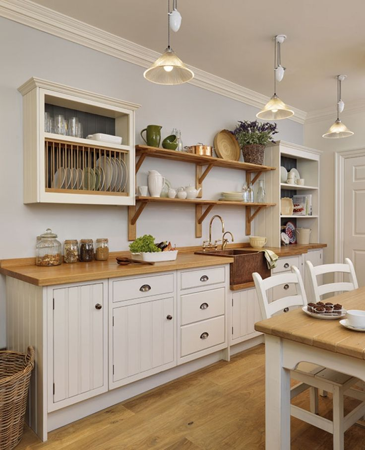 Free standing painted kitchens with seaside chic