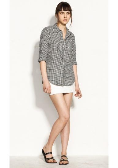 Nili Lotan | NL SHIRT - NAVY GINGHAM - Shirts: Gingham Shirt