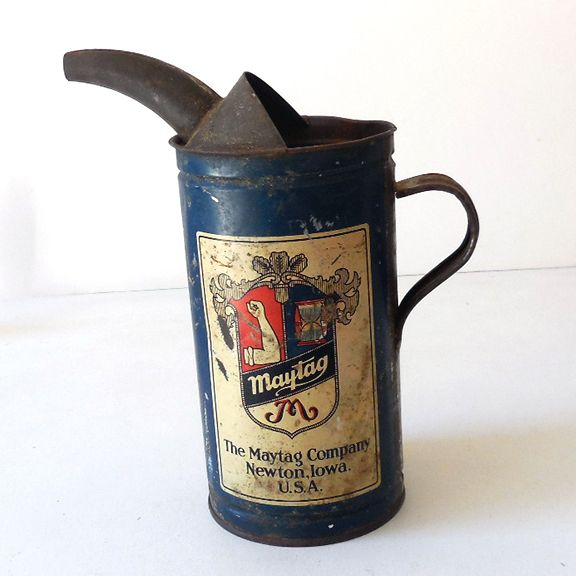 Vintage Maytag Fuel Mixing Oil Can With Built In Spout - 1930's~~