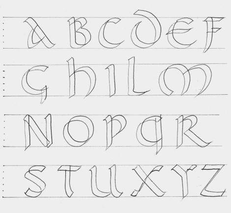 Práctica de la Caligrafía: Letra Uncial romana (S.IV