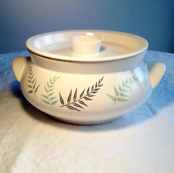 Franciscan Ware Fern Dell Covered Dish Vintage China Casserole by vintagepoetic on Etsy