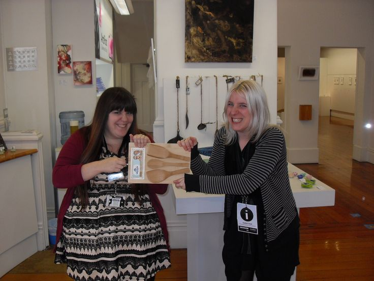 Our two brilliant bakers, Alyson (left) and Jamieson (right) tussle it out for the trophy.
