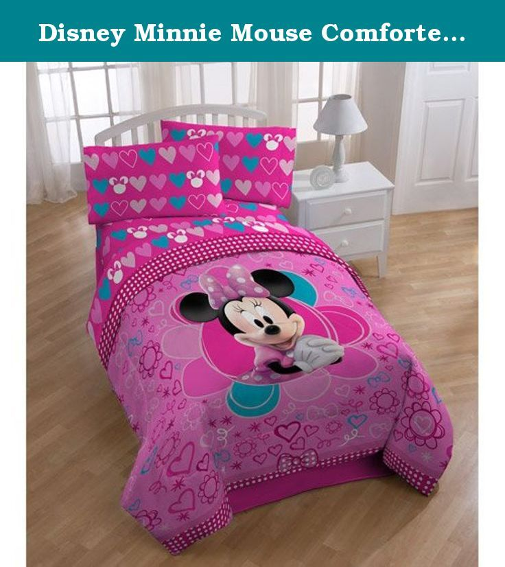 Disney Minnie Mouse Comforter Twin / Full Size. Finally! Children can incorporate adorable Minnie Mouse into their bedroom decor! The vivid designs and patterns almost bring little Minnie to life with bold, bright colors. Not only does this comforter feature an adorable design, but the super-soft plush makes it cuddly soft for bedtime comfort.