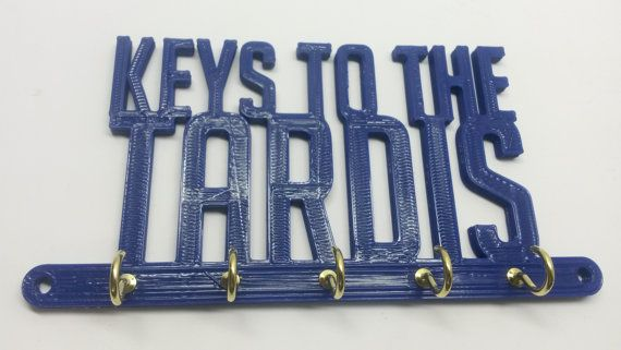 Dr. Who Doctor Who Tardis Key Rack Key by ConceptionToCreation