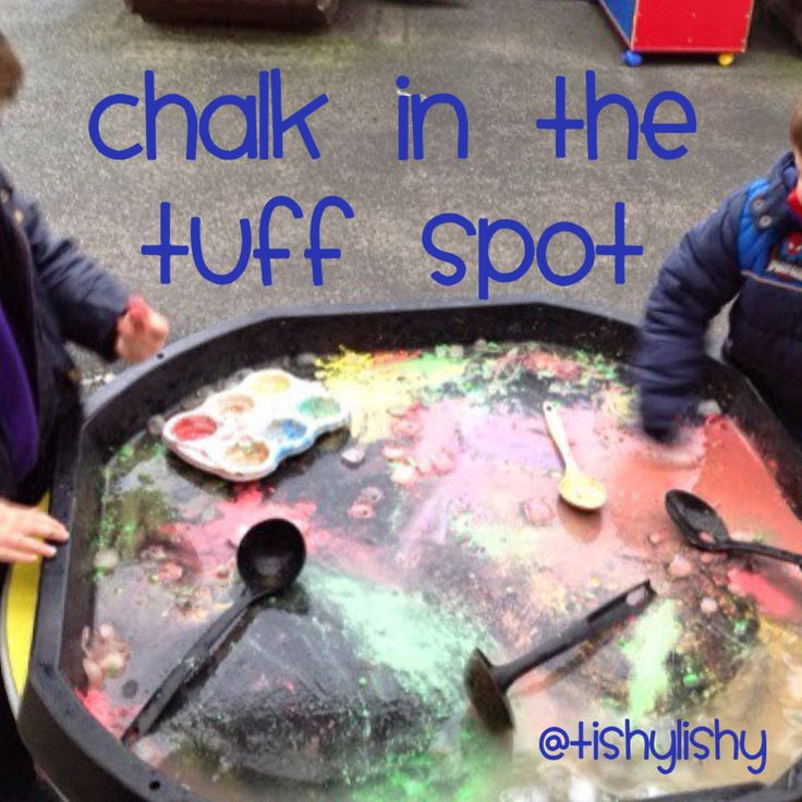 Chalk, water and a tuff spot.