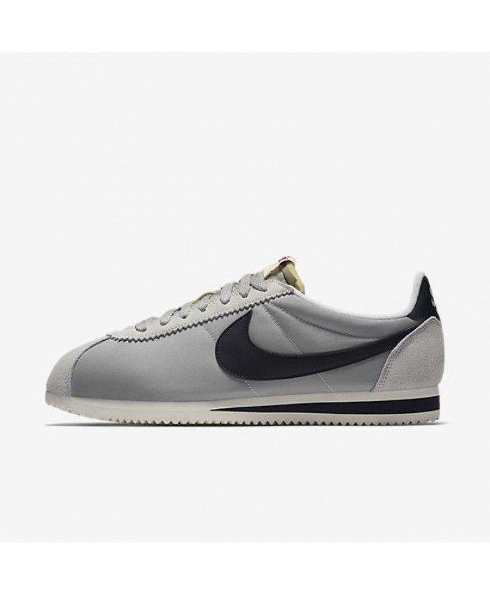 separation shoes 0c09a 1fcbf Cortez Homme Nylon Aw Argent Mat Voile Noir