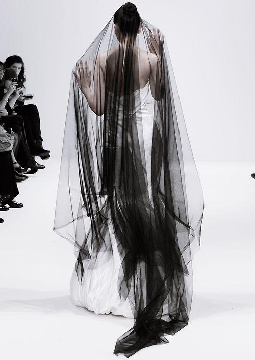 Black veil! I'm dying. I love it.  Ziad Ghanem S/S 2012