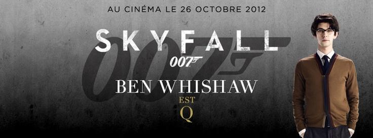 Ben Whishaw est Q, Skyfall au cinéma le 26 octobre 2012.