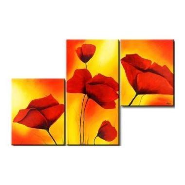 Cuadros Cuadros Flores Decorativos Acr Lico Sobre Tela Polipticos ...