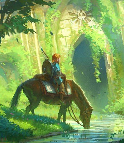 Tribute to the Legend of Zelda by Jeremy Fenske - Breath of the Wild #nintendo #fanart