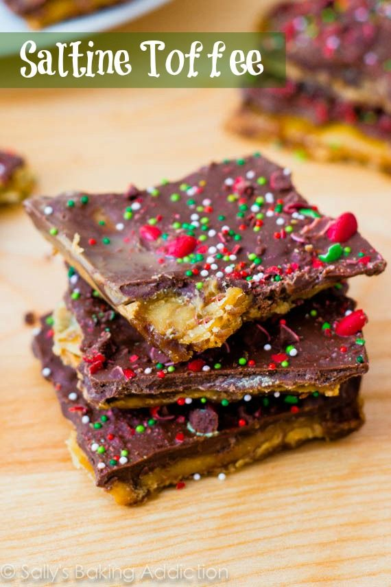 Christmas Crack - easy toffee made from saltine crackers. sallysbakingaddiction.com