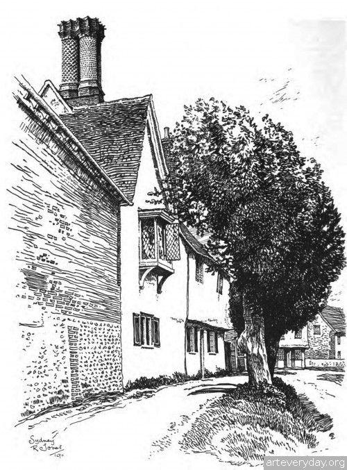 8 | Английская деревня начала XX века. Зарисовки | ARTeveryday.org