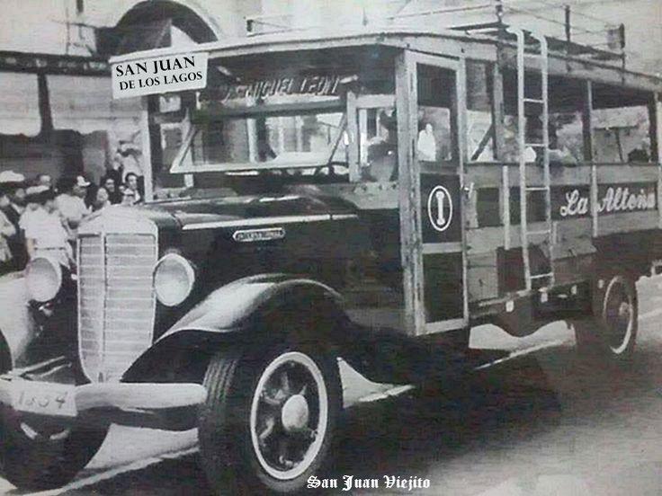 primeros camiones de pasajeros de La Alteña de seguro lo vieron en San Juan de los Lagos Jalisco Mexico