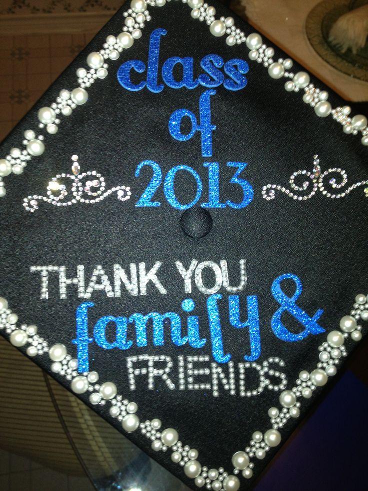 Decorations on Graduation cap