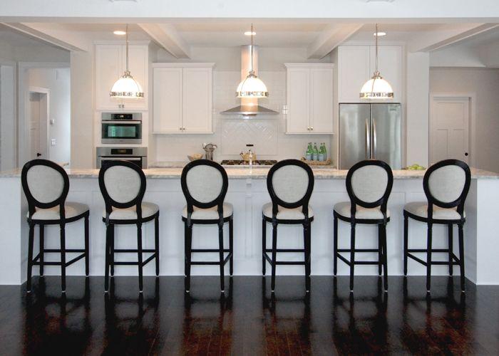 Bria Hammel Interiors White Kitchen Restoration Hardware Dark Wood Floors Bria Hammel