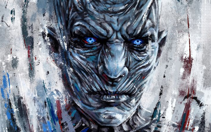 Download wallpapers Night King, art, White Walkers, Game of Thrones