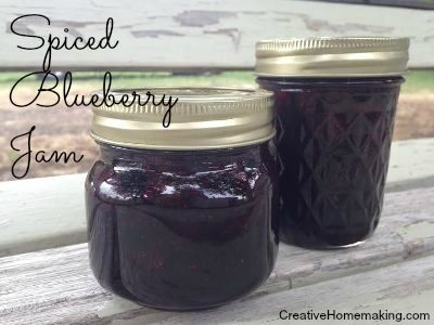 Spiced blueberry jam -- blueberry jam with a cinnamon twist.