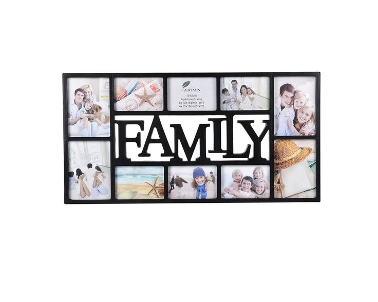 details about large family 10 multi picture aperture photo wall frame blackbrown