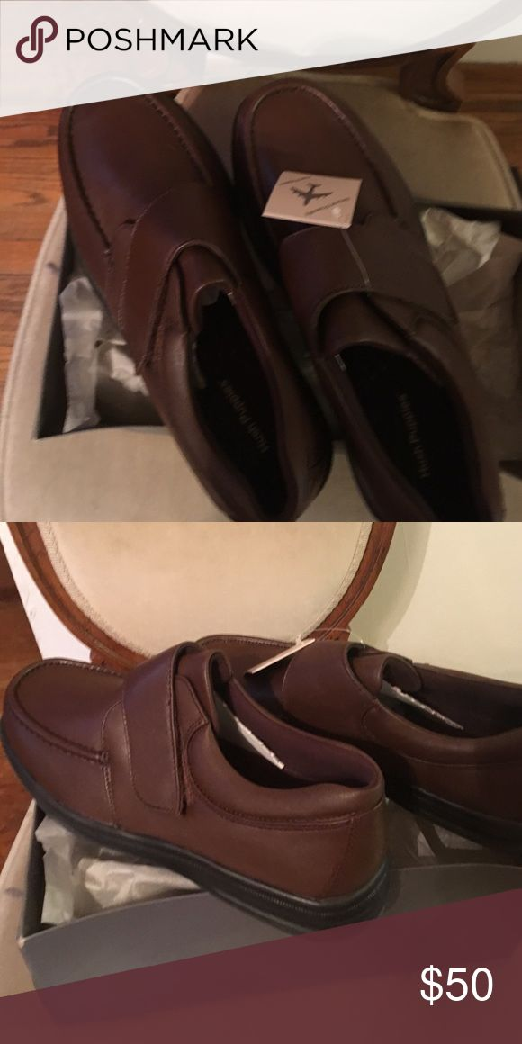 Hush Puppies brown shoes. Dark brown shoes with Velcro closure. Hush Puppies Shoes Loafers & Slip-Ons