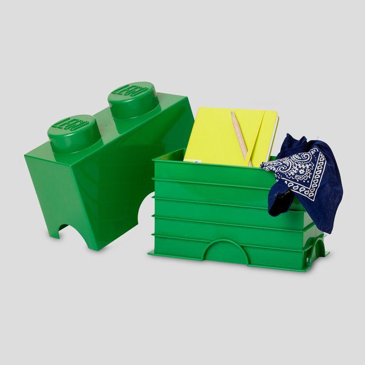 LEGO Storage, Brick 2 Dark Green, Design by Room Copenhagen