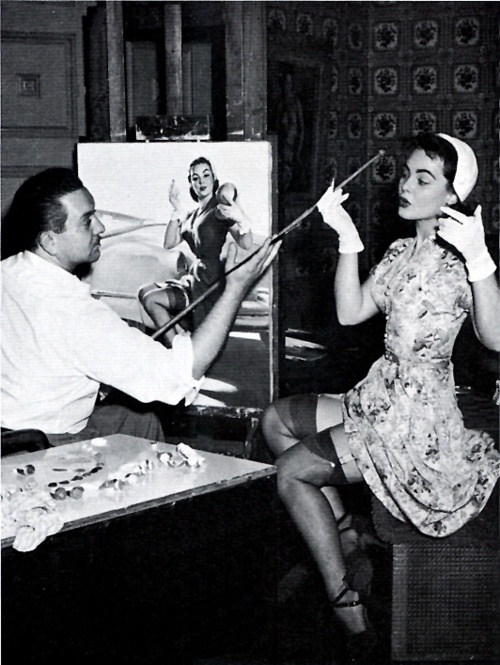1940s, Pin-up artist Gil Elvgren with model: Pinup Beautiful, Models Inspiration, Pinup Artists, Models Poses, Photography Vintage, Artists Gil, Pin Up Artists, Gil Elvgren, Fashion Pinup