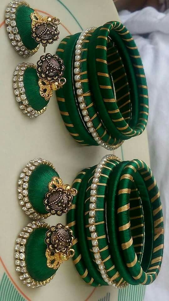 Silk thread bangles...  To order plz WhatsApp on +91 9703713779