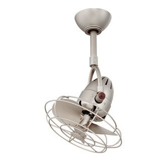 Retro adjustable ceiling fan.  Perfect for a corner in a small beach cottage bedroom.