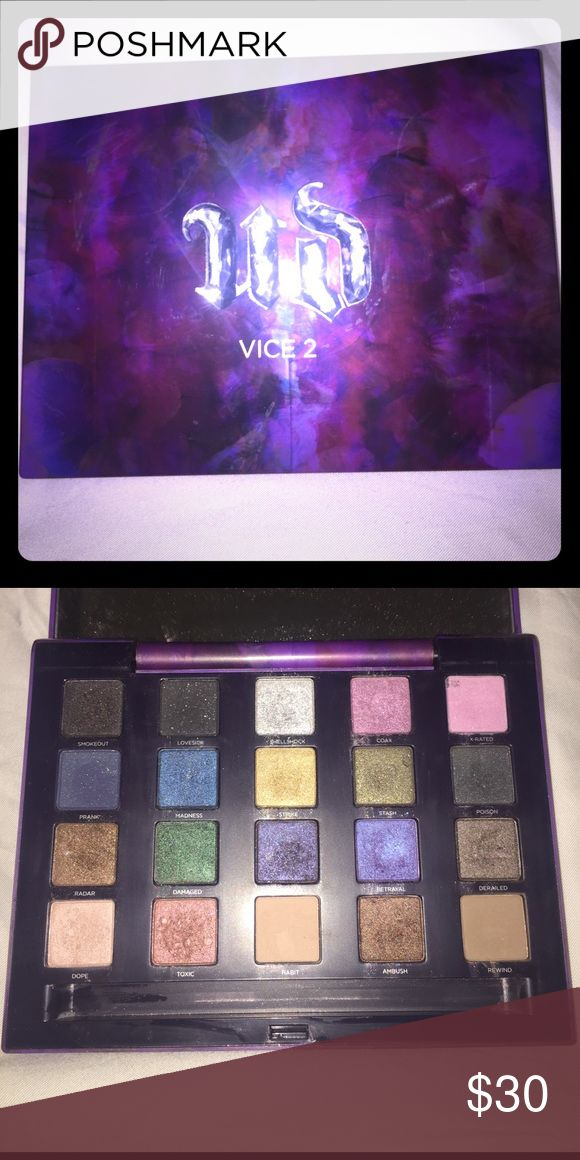 Urban Decay Vice 2 palette Gently used Vice 2 palette. Brush not included. Urban Decay Makeup Eyeshadow