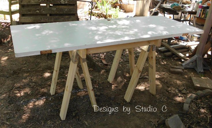 Sometimes, you just need an extra work table… I'm up to three tables now. Do I need that many? Well, yes! I like to multitask! Anyhoo, I purchased a couple sets of sawhorse brackets to …