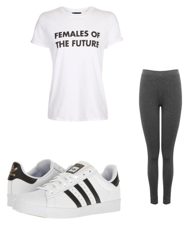 """""""Untitled #14"""" by alexandra-kermanidis on Polyvore featuring M&Co, Topshop and adidas"""