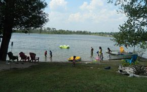 Summer fun at Hawthorn Cottages and Camping on Lake Eugenia
