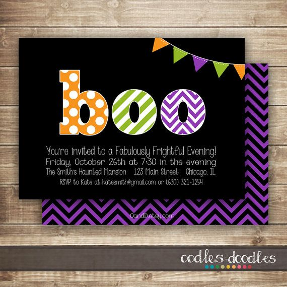 30 best halloween birthday party invitations images on pinterest halloween party invitation costume party invitation halloween birthday party orange purple green printable or printed stopboris Images