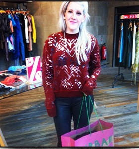 Shopping with Ellie Goulding