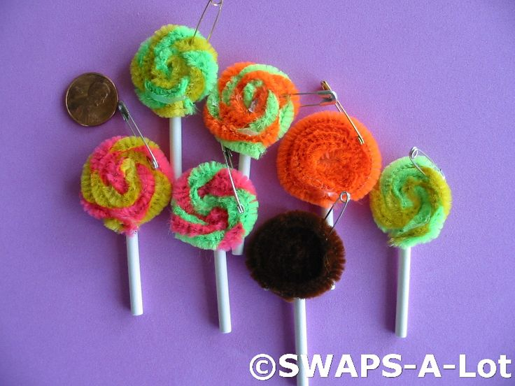 Girl Scout Swap Ideas Lolly Pops Crafts Girl Scout