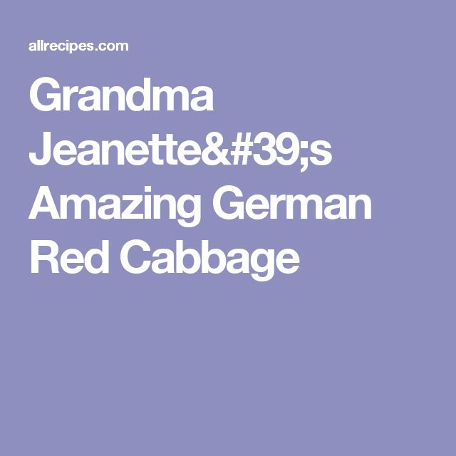 17 Best ideas about German Red Cabbage on Pinterest ...