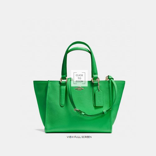 Coach Outlet Locations & COACH CROSBY mini carryall LIGHT GOLD/GREEN