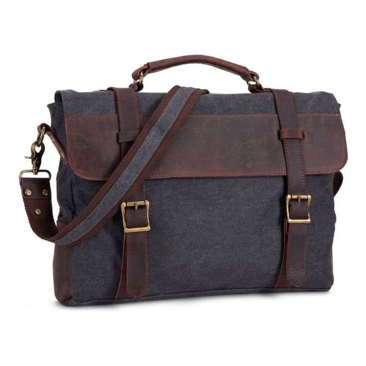 Waxed Canvas Messenger Bag / Leather Messenger Bag / Laptop Messenger Bag / Men Messenger Bag / Bike Messenger Bag / Satchel / Briefcase men by TheLeatherGoods on Etsy https://www.etsy.com/ca/listing/482367851/waxed-canvas-messenger-bag-leather