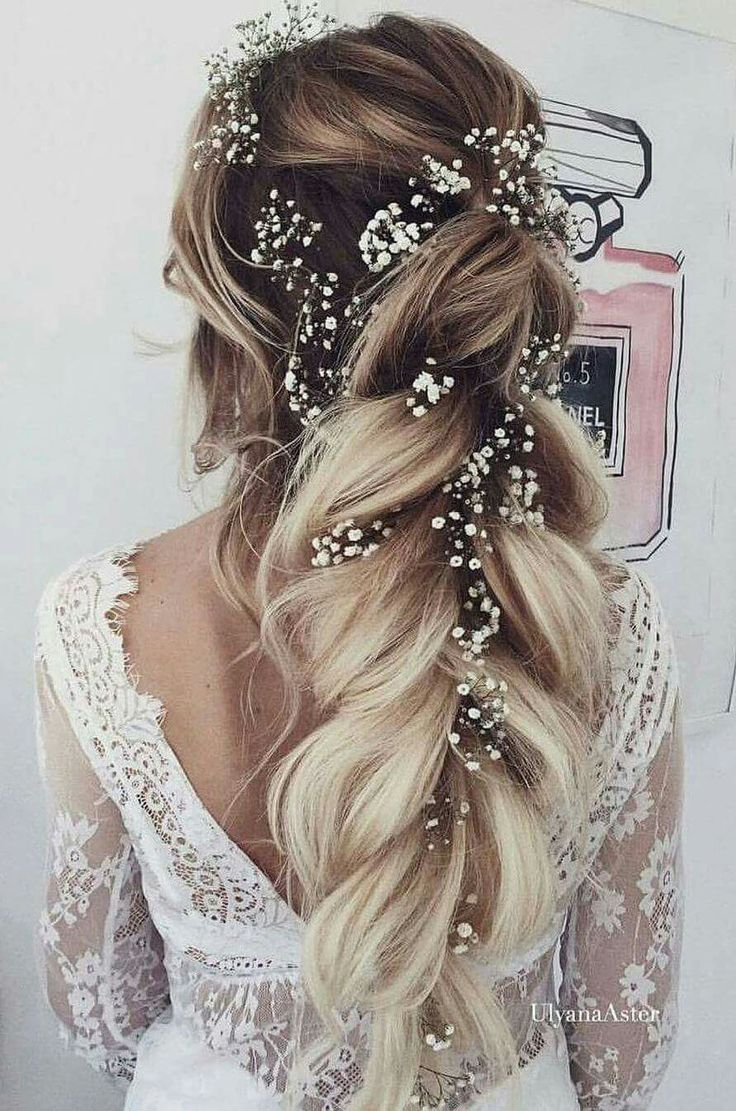 Dreamy wedding hair.
