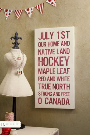 July 1 - Canada Day Canvas from Poetry Custom Canvas