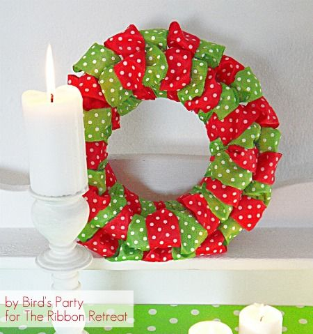 This festive Ribbon Wreath ties up your holiday decor in a beautiful bow (via The Ribbon Retreat)