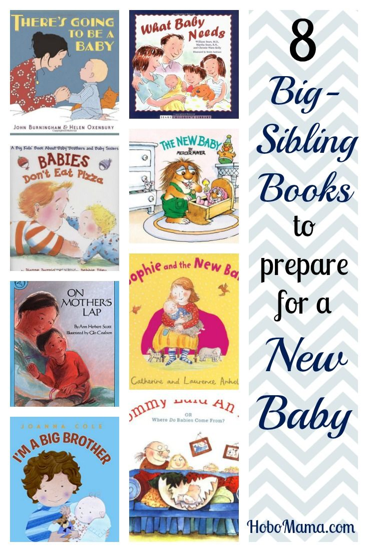 8 books to prepare a toddler or older sibling for a new baby's birth, with reviews on how attachment-friendly & diverse the books are >> HoboMama.com