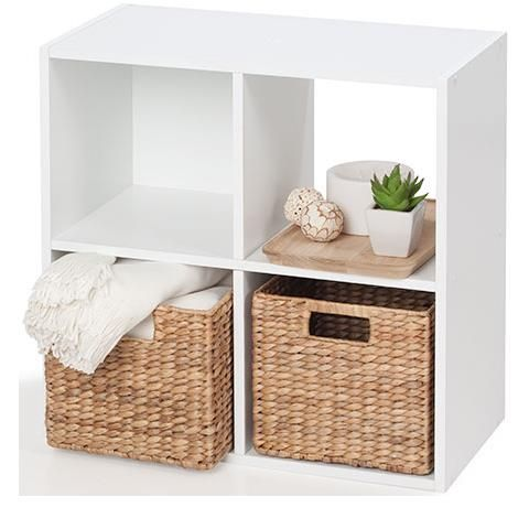 4 Cube Unit White homemaker