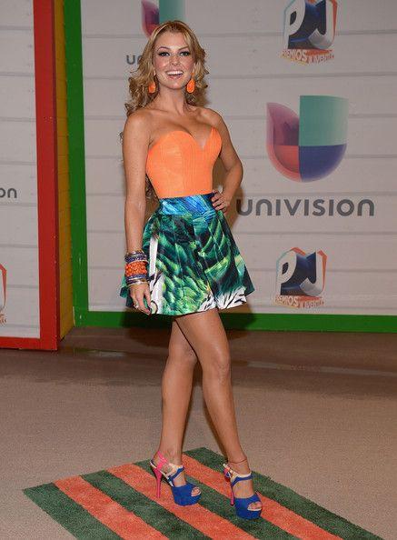 Marjorie de Sousa Actress/model Marjorie de Sousa attends the Premios Juventud 2013 at Bank United Center on July 18, 2013 in Miami, Florida...