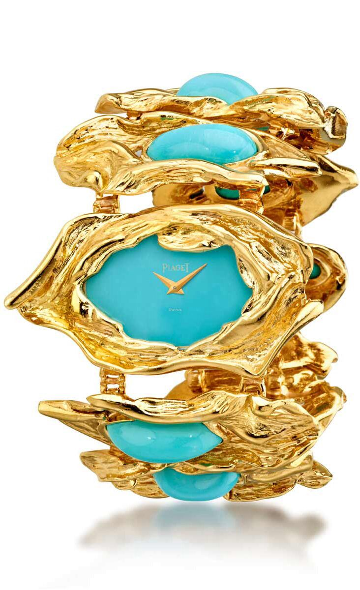 Gold set with turquoise by Piaget