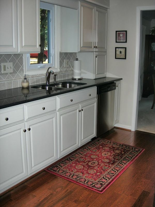 Kitchen Tiles Dark Cabinets