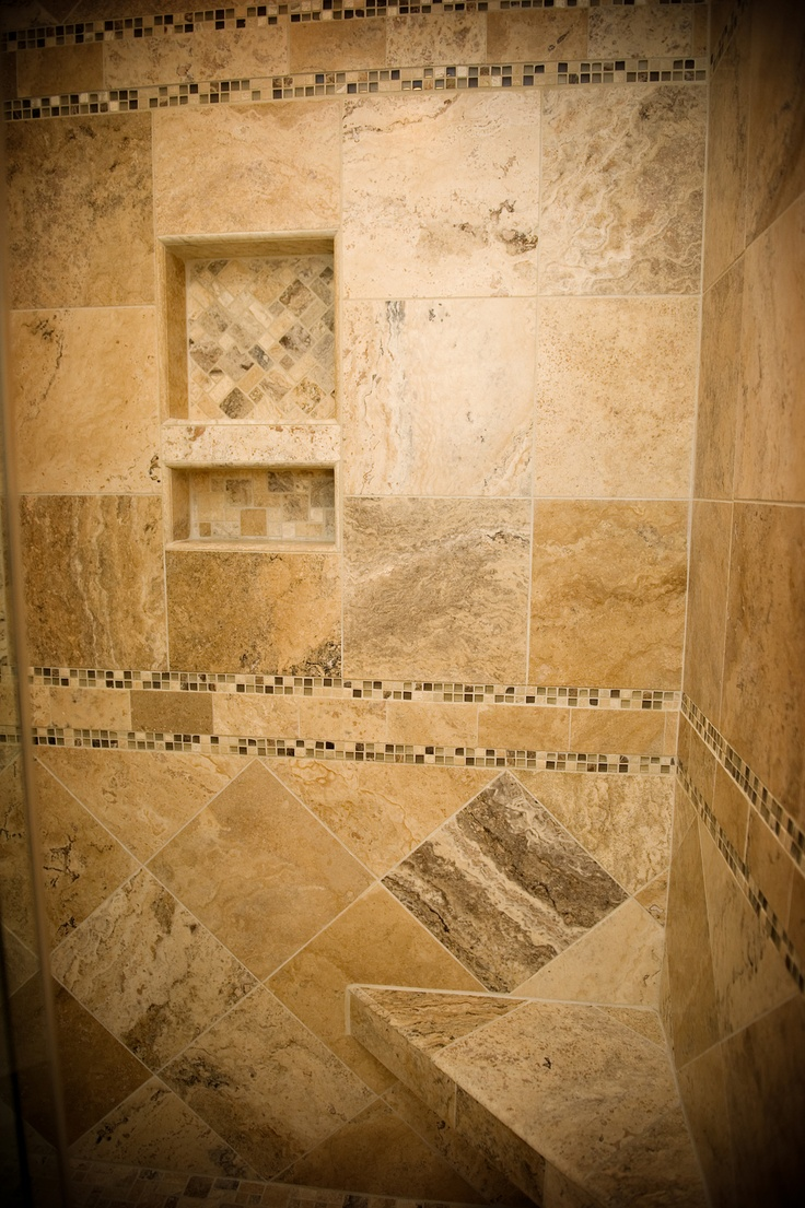 Soap Amp Shampoo Shower Niche With Versailles Mosaic Inlay